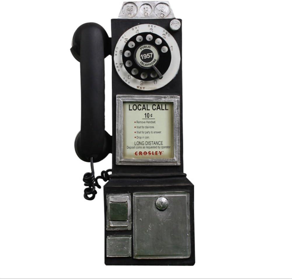 BKPH Retro Cabina de teléfono Modelo Resina artesanía Bar café Ornamento