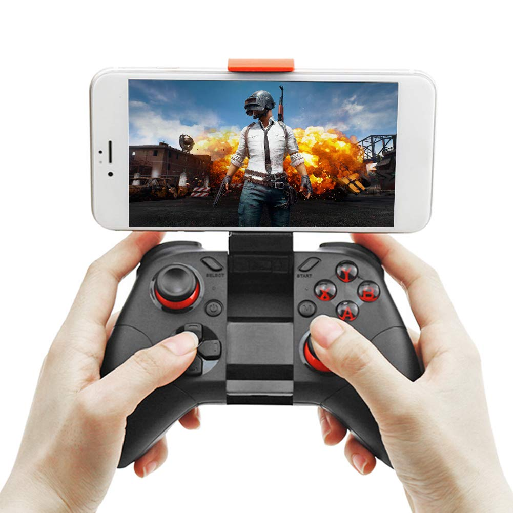 Compatible with Android Smartphone Tablet PC Vanpower Wireless Joystick Controller Remote VR Gamepad with Phone Holder 40H Gaming Time Bluetooth Game Controller