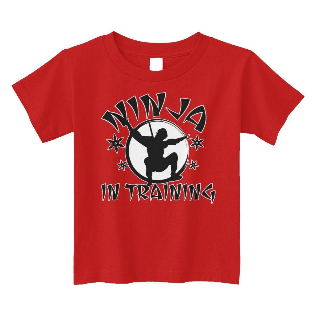 Threadrock Little Boys' Ninja in Training Toddler T-Shirt