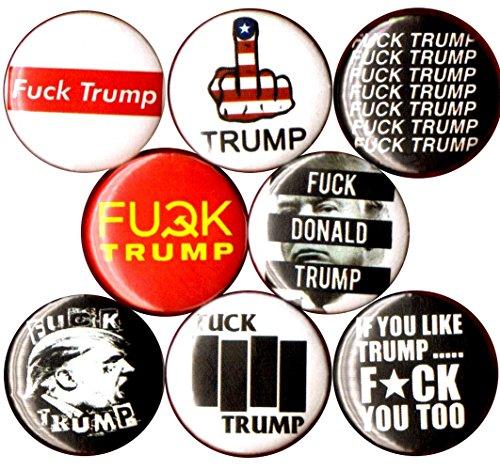 Panic Buttons Fuck Trump Set of 8 1