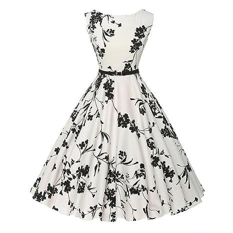 Yesmile 💋💝Vestido de Mujer Vintage Falda Negro Vestido Elegante de Noche para Boda Fiesta