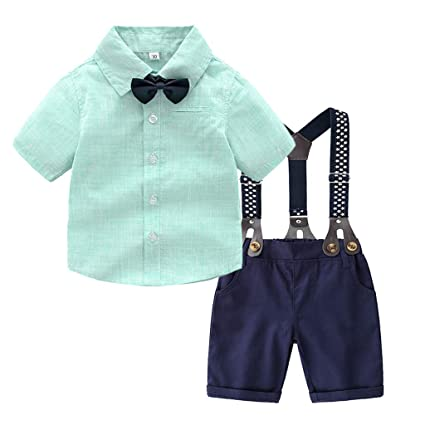 50d5aaa78039e Amazon.com : Luonita Baby Boys Gentleman Bow Tie Outfits Short ...