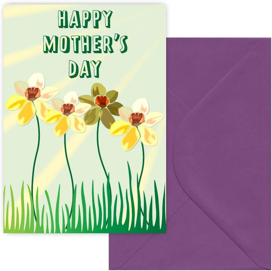Groovy Happy Mothers Day Greeting Card Amazon Co Uk Office Products Birthday Cards Printable Opercafe Filternl