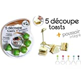 SAVEUR ET DEGUSTATION 5 Découpe toasts + poussoir intégré