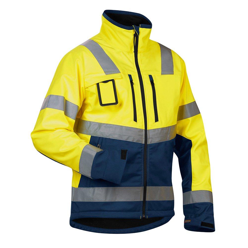 Blakläder Softshelljacke High-Vis Klasse 2 Größe XXL in gelb/marineblau , 1 Stück, , 490025173389XXL