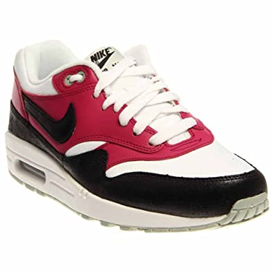 newest 9bee4 8a87b Nike Women s Wmns Air Max 1 Essential, WHITE BLACK-BRIGHT MAGENTA-S