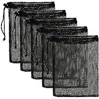 Durable Nylon Mesh Drawstring Bag 5 PSC - Mesh Ditty Bag for Equipment Storage Nylon Travel Bag with Drawstring Cord…