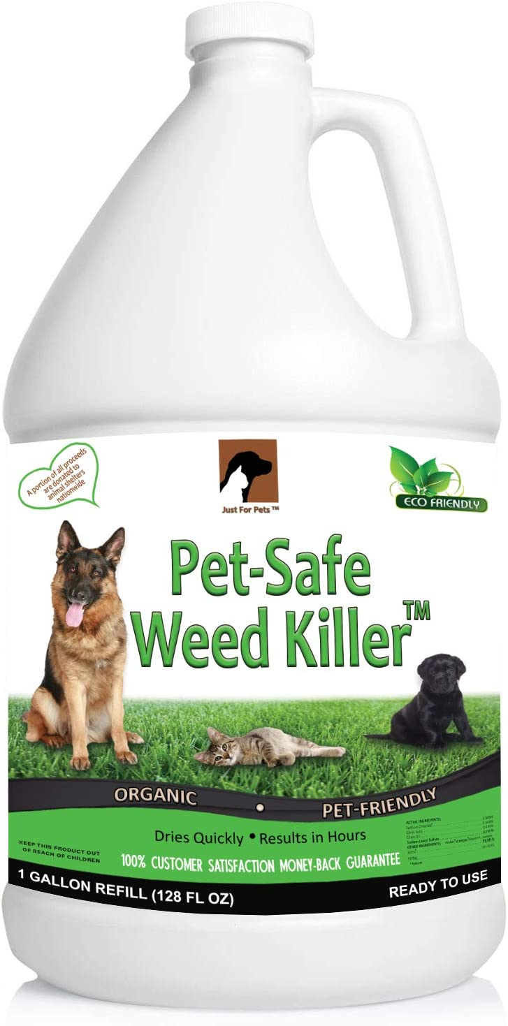 Just For Pets Pet Friendly & Pet Safe Weed Killer Spray (128 oz Gallon Refill)