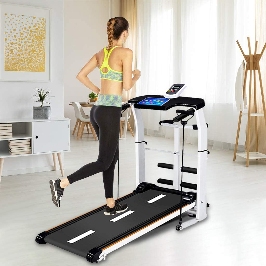 Supine HUUH Folding Shock Running T-wisting Draw Rope Folding Manual Treadmill Working Machine Cardio Fitness Exercise Incline Home Manual Walking Machine,Not Electric