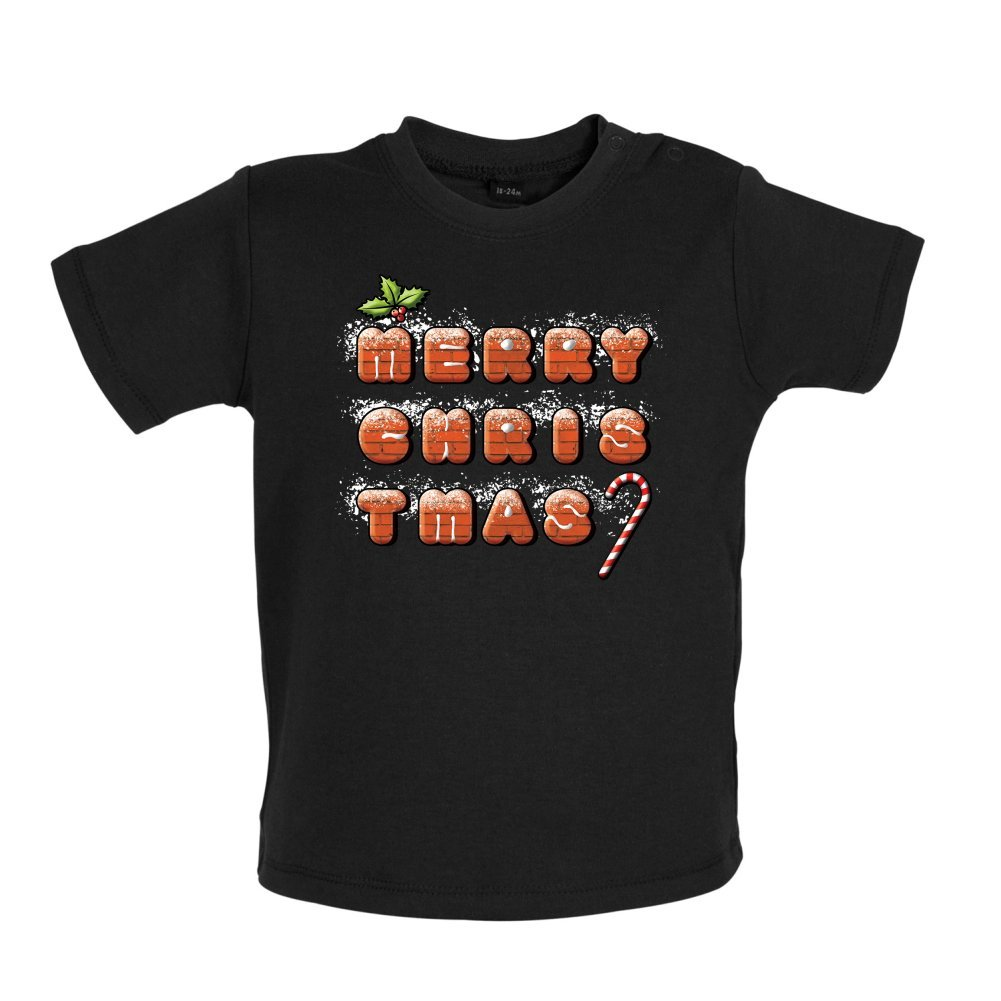 3-24 Months Baby//Toddler T-Shirt Dressdown Merry Christmas Biscuits