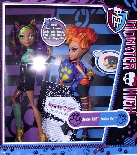 Monster High Wolf sisters Clawdeen and Howleen Wolf]()