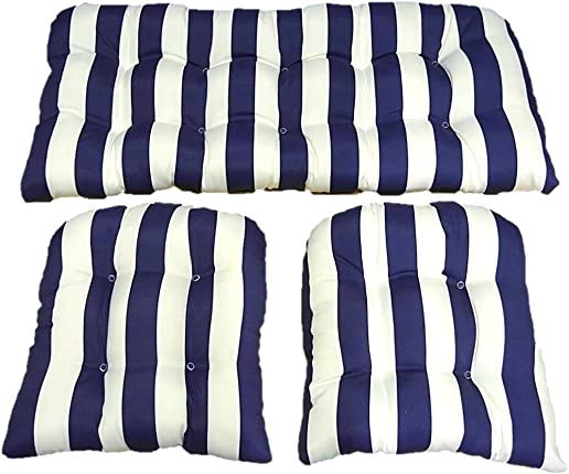 3 Piece Wicker Cushion Set