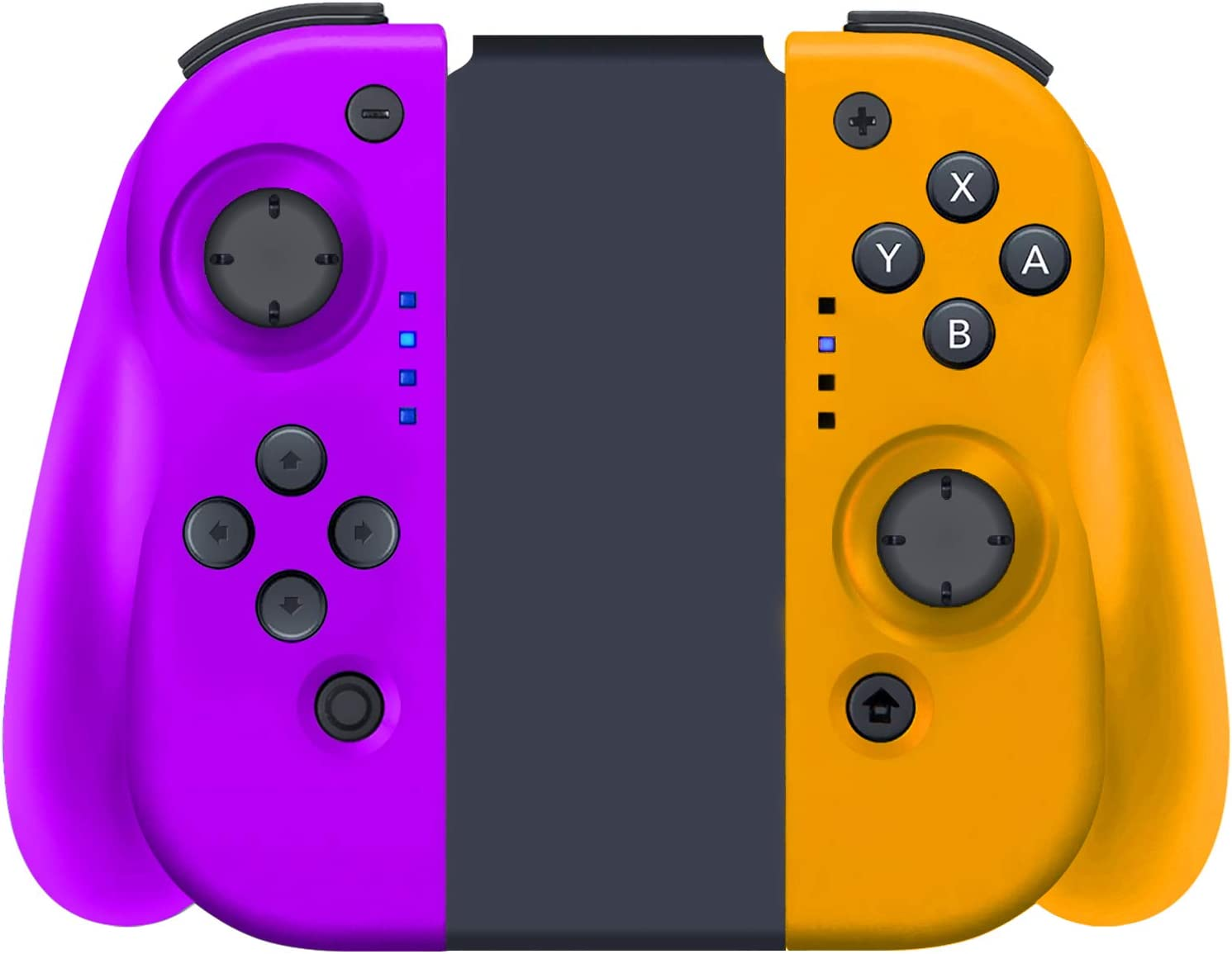YHT Wireless Joy Con Controller for Nintendo Switch, Replacement Joy Pad Controllers Compatible for Nintendo Switch Console,Comfortable Handheld Gamepad(Purple&Yellow)