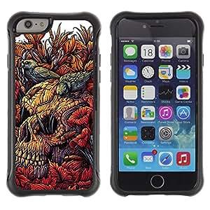 "Pulsar iFace Series Tpu silicona Carcasa Funda Case para Apple (4.7 inches!!!) iPhone 6 , Naturaleza Birds Decay Naturaleza Cráneo de la muerte"""