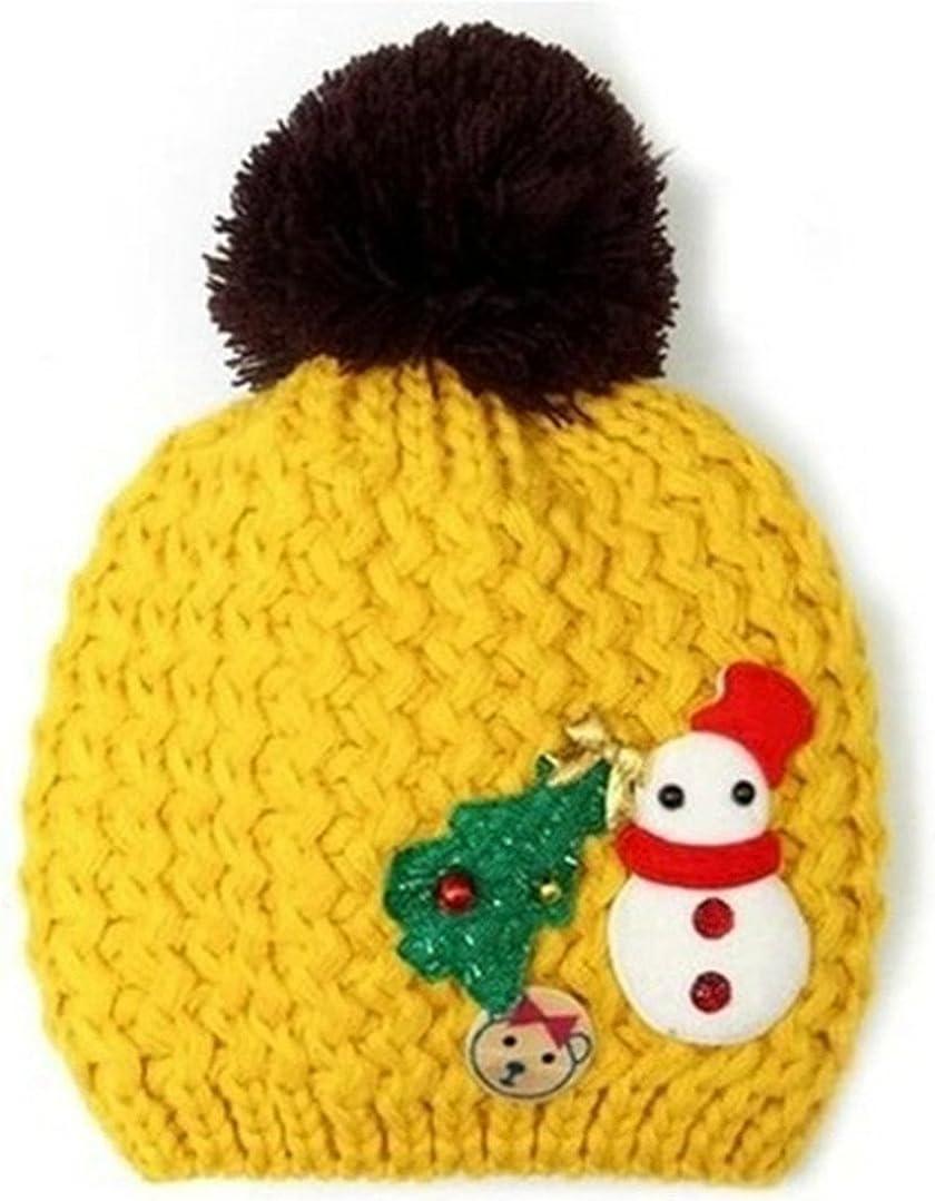 Snowman Christmas Tree Infant Knit Hat Unisex Beanies Cap