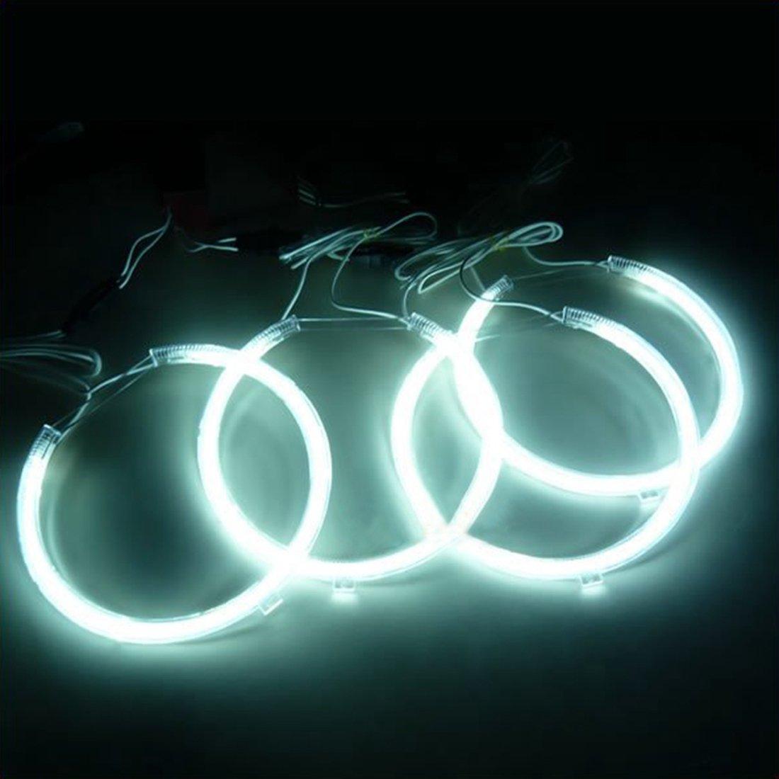 SODIAL R 4X Angel Eyes CCFL Angel Eyes LED Xenon Lampe blanche
