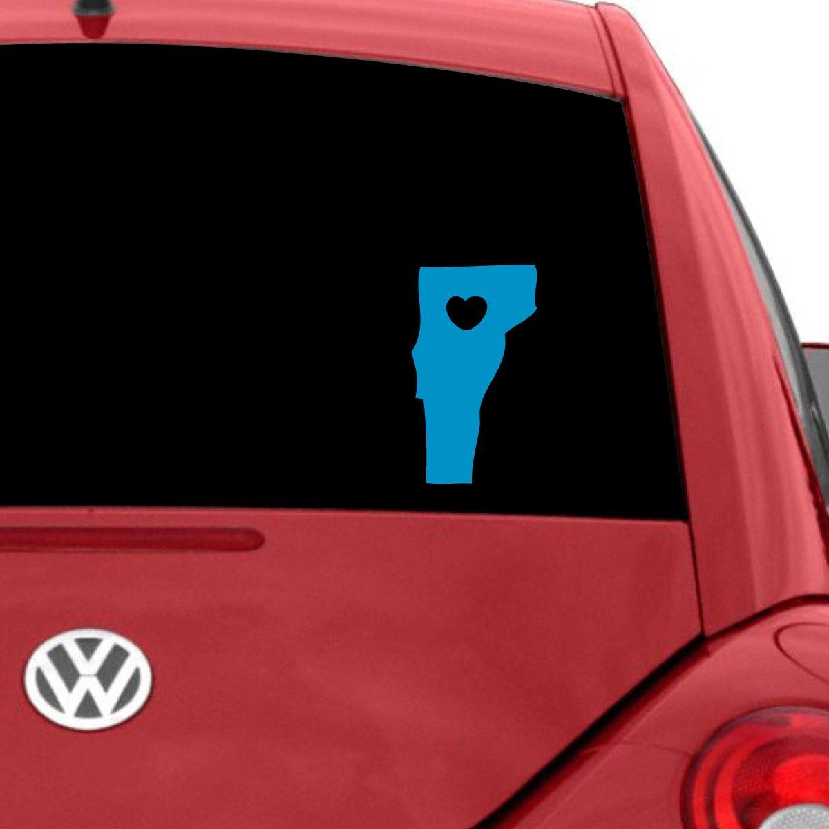 超熱 I Love W Decal Vermont車デカール、Die グレー Cut Vinyl Decal for Windows車、トラック、ツールボックス、ノートパソコン、ほぼすべてmacbook-ハード、滑らかな表面 7