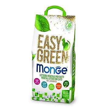 Monge Arenero Easy Green Gato Gatos furetti Reptiles Cat 10 L Biodegradable Inodoro