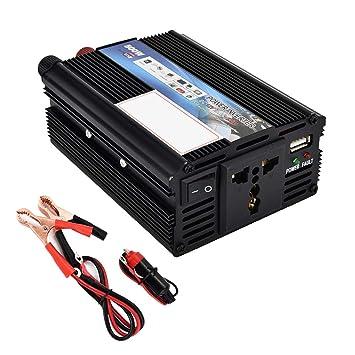 CAPTIANKN Inversor de la energía 500W, C.C. 12V al Transformador de la CA 110V 220V