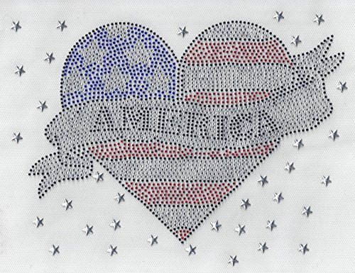 USA Vinyl 4th of July Iron on Transfer Independence Iron On Heat Press Star American Flag Heart -