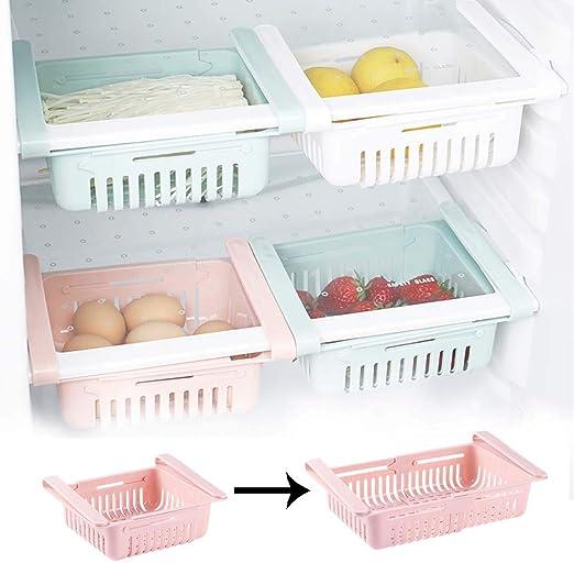 EFGS Ajustables Refrigerador Cajón Cajas Almacenaje, Portátil ...