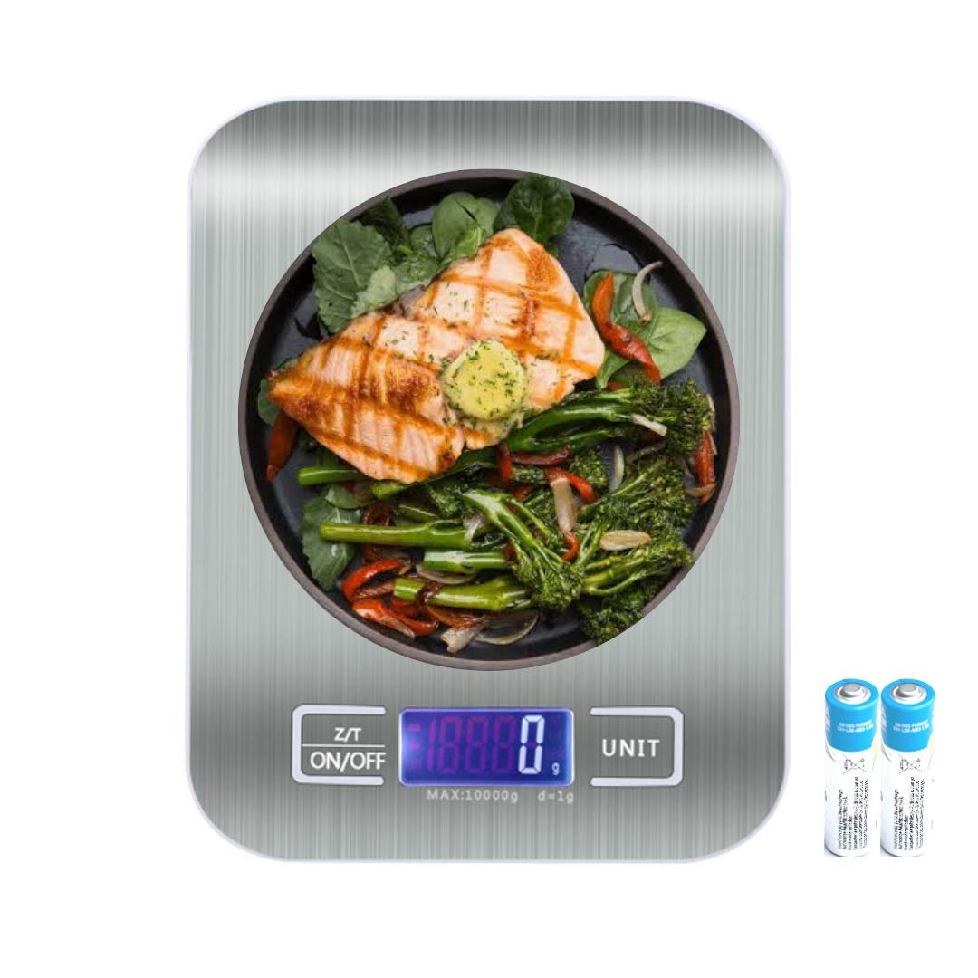 Food Kitchen Scale, Gifts for Cooking, Baking, Meal Prep, Keto Diet and Weight Loss, Measuring in Grams and Ounces