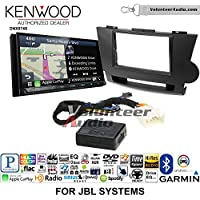 Volunteer Audio Kenwood DNX874S Double Din Radio Install Kit with GPS Navigation Apple CarPlay Android Auto Fits 2008-2013 Toyota Highlander with Amplified System (Black)