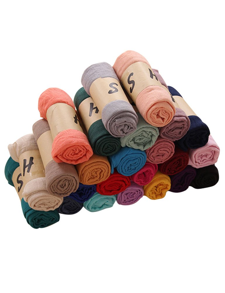 SCX Women Summer Solid Color Scarf Lightweight Scarves Fashion Wrap by SCX (Image #1)