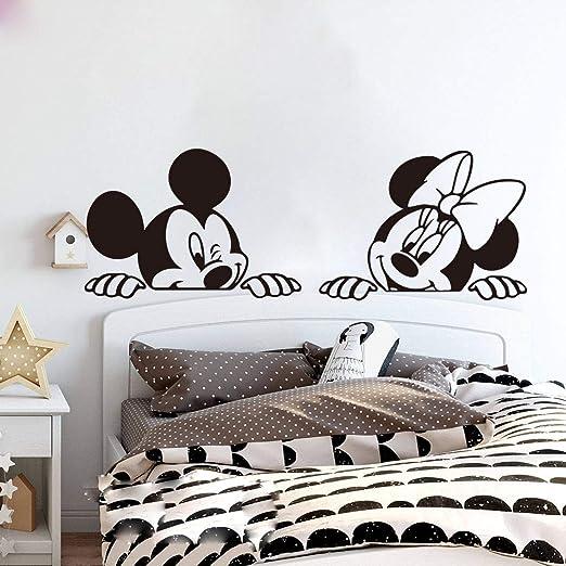 wandaufkleber 3d Wandtattoo Wohnzimmer Mickey Minnie Mouse ...