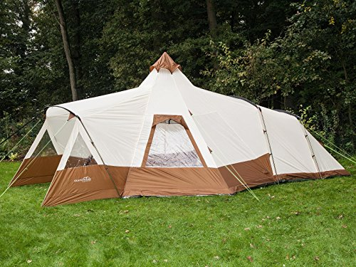 official photos 33f9f f6a1d Skandika Navaho Teepee Desert Pyramid Indiana Family Group Tent,  Sewn-In-Groundsheet, 2 Sleeping Pods, 5000 mm Water Column, 5 Person
