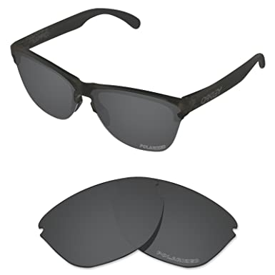 52c1dd0a30 Tintart Performance Lenses Compatible with Oakley Frogskins Lite Polarized  Etched-Carbon Black