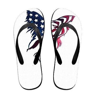 An Abstract Art Eagle American Flag ZUniverse Unisex Light Weight Flip Flops Sandal