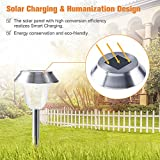 [2018 UPGRADED] Solar Pathway Lights Outdoor for Garden/Path/Walkway/Landscape, 7LM LED Auto On/Off Operation, Waterproof Stainless Steel Anti-corrosion Firm Design, 6 PACKS for Yard/Patio/Lawn