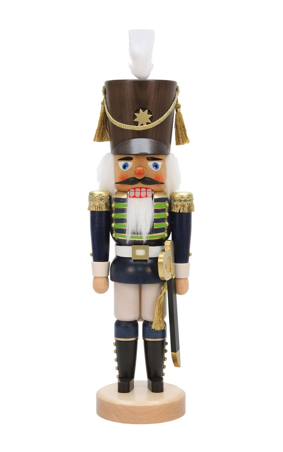 Alexander Taron Christian Ulbricht Decorative Blue Soldier Nutcracker by Alexander Taron