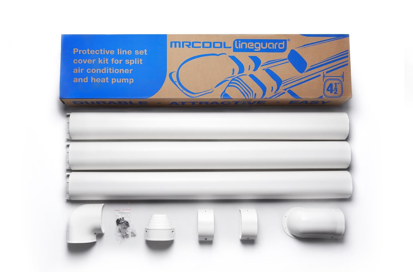 LineGuard 4.5 in. 16-Piece Complete Line Set Cover Kit for Ductless Mini-Split or Central System MRCOOL