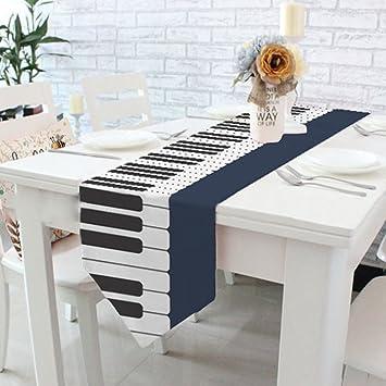 Yazi teclado de Piano Patrón camino de mesa para boda decoraciones de banquetes, el compromiso
