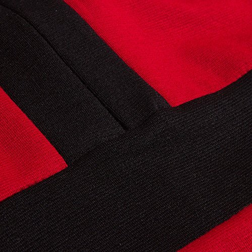 Beauty7 Vestido de Traje OL Mujer Carrera Formal Mangas Largas Cuello Redondo Falda Dividida Falda Recta Puntadas Negocios Ceremonias Trabjo Negro Rojo Blanco Swallow Gird Houndstooth Verde Rojo