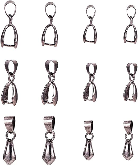 20pcs Bail Connector Bale Pinch Clasp Pendant Necklace Jewelry Findings DIY