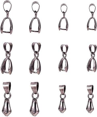 20,50 ou 100 Plaqué Argent 10 x 5 Homard Fermoirs idéal fabrication de bijoux clip sur