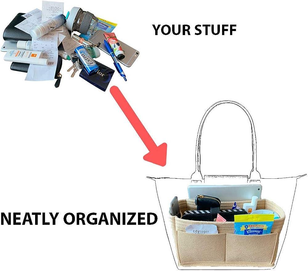 KOELLECO Purse Organizer Insert Handbag Organizer Insert Purse Insert Organizer