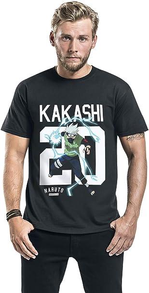 Naruto Kakashi - Move Hombre Camiseta Negro S, 100% algodón ...