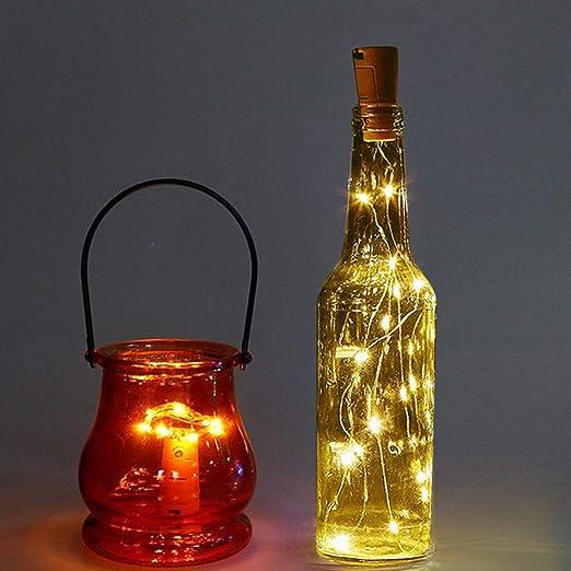 10 Piezas] Luces para Botellas, Zorara 2m 20 LEDs Lámparas de ...