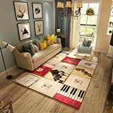 HIGOGOGO Polyester Rugs American Countryside Style Living Dinning Bedroom Area Rug, 47 by 63 inch Ultra Soft Space Area rug, Super Large Bedroom Rugs Area Rugs, Reversible Play Mat/Children Rugs
