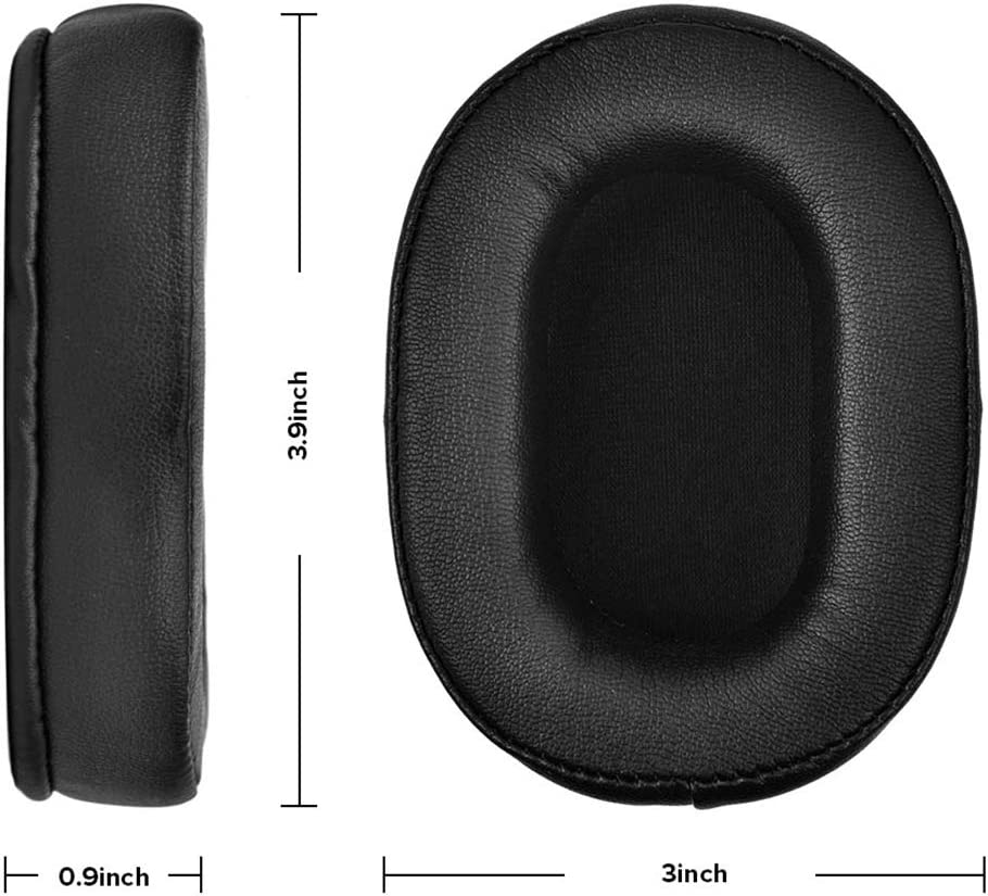 Earpad Replacement,Ear Pads for Skullcandy Hesh 3 Skullcandy Crusher Ear Cushion Ear Pad//Ear Cups//Ear Cover Bluetooth Wireless Headphone Black