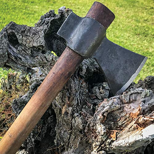 K EXCLUSIVE Hand-Forged Wooden Handle Axe