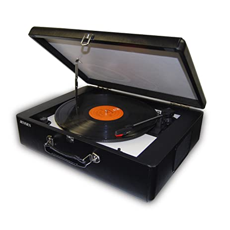 Jensen Portable Stereo Turntable With Audacity Software Suite U0026 Built In  Speakers And Fully Automatic