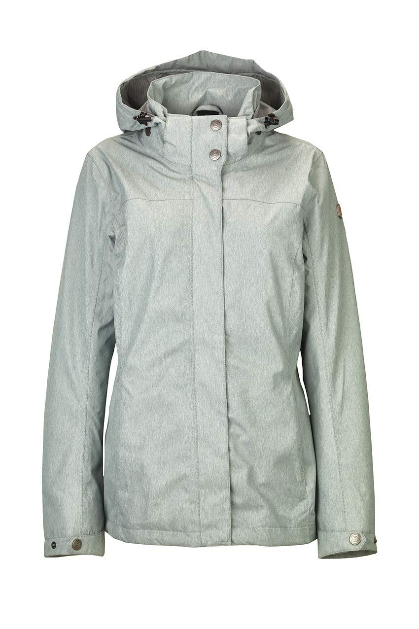 Aquavert FR   4XL (Taille Fabricant   50) Killtec Lenera Fonctionnelle d'extérieur Veste de Pluie avec Capuche zippée Femme