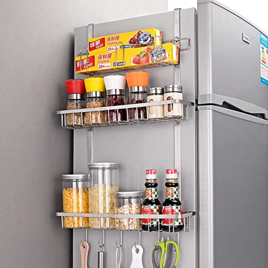 ZYH-shelf Rack De Especias, Condimento Montado En La Pared Rack De ...
