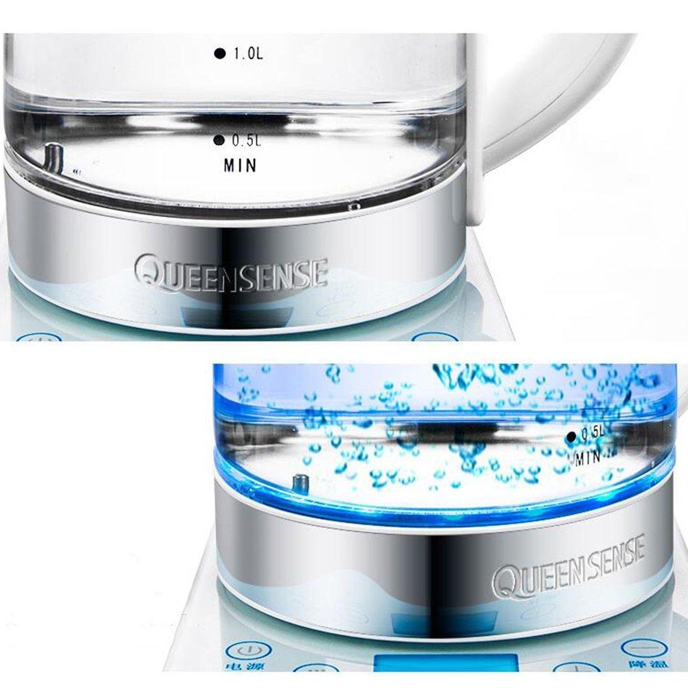 XUEQIN Hervidores y dispensadores de agua caliente Calentador eléctrico Pantalla de cristal líquido LCD Calefacción Chasis 3mm Cristal PP + 304 Acero ...