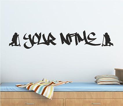 Amazon.com: Various personalizado Graffiti Stunt – Patinete ...